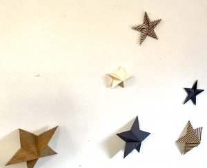 Paper stars pointed and 3D